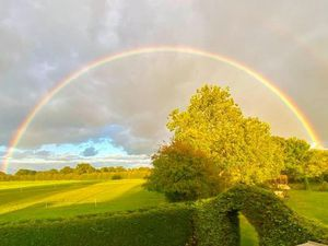 Claire Bishop took this photo from her garden in Whixall