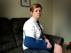 Telford mother Charlotte Kime suffered collarbone injury in a suspected hit and run in Wrekin Retail Park.