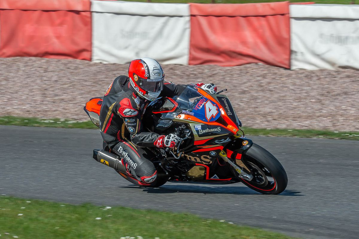 Rutter enjoyed testing the new BMW at Darley Moor earlier this year. Picture: Tony Else