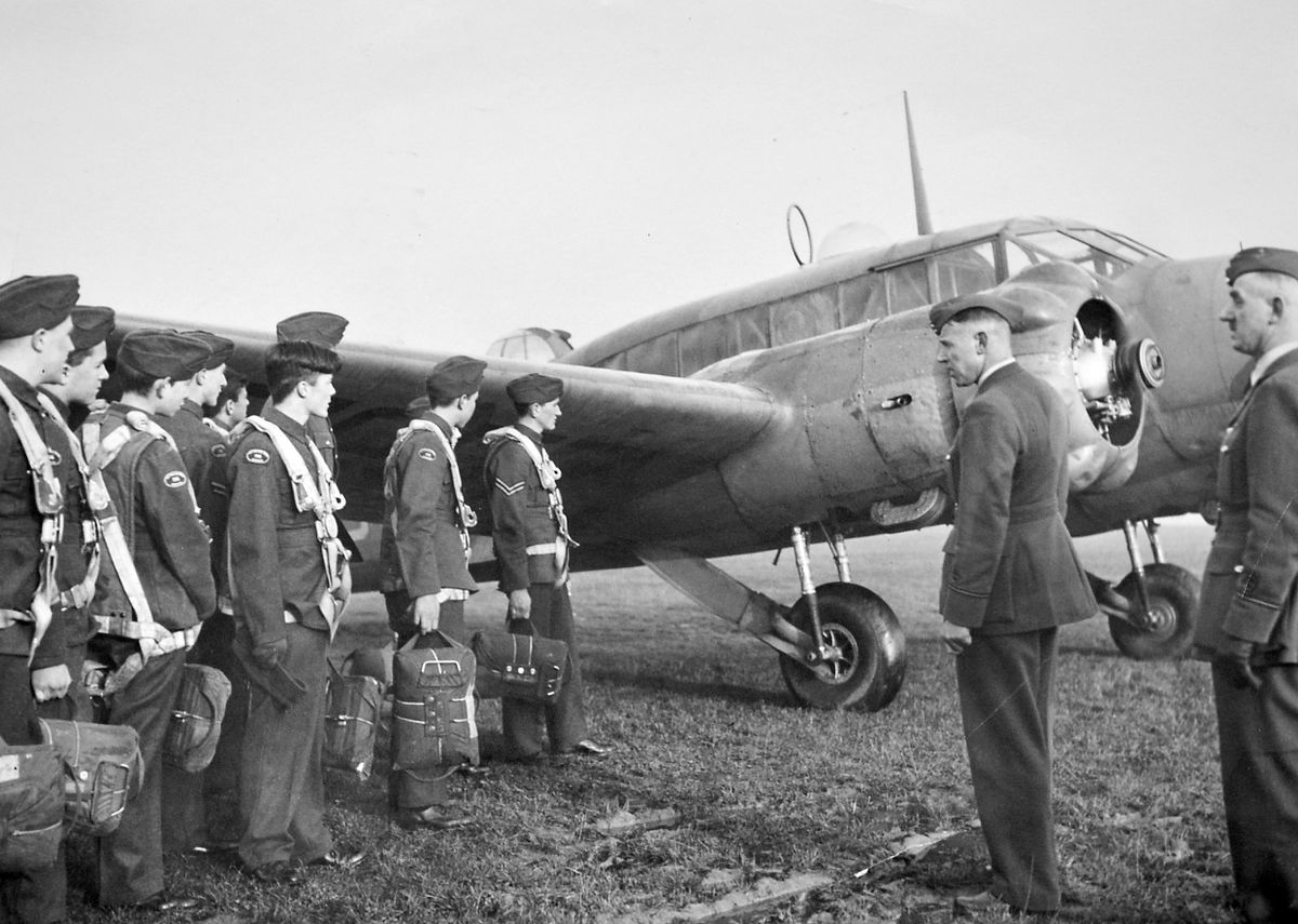 "A 1942 picture showing ATC cadets about to climb into an Avro Anson aircraft at an air base ""somewhere in the West Midlands"" –censorship meant the location was not given, but as this is an old Express & Star picture it would be likely to be somewhere in the Wolverhampton area like RAF Cosford or RAF Perton."