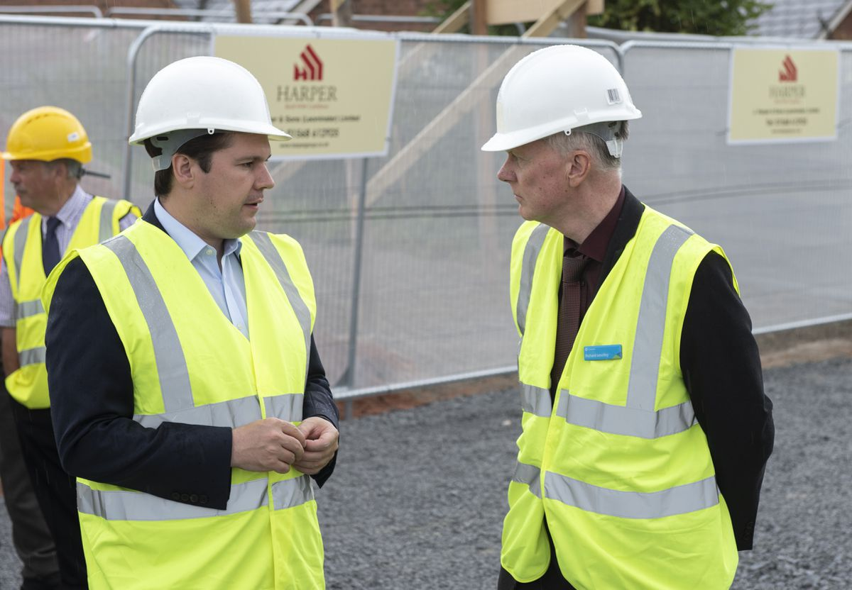 Secretary of State for Housing, Communities and Local Government, Robert Jenrick MP with Richard Wooley, Chief Executive of Connexus