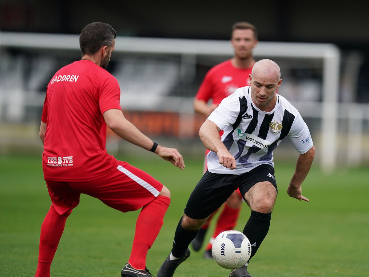 Heading was outlawed at a special charity match in Spennymoor