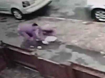 CCTV footage captures moment 12-year-old girl fights against robber