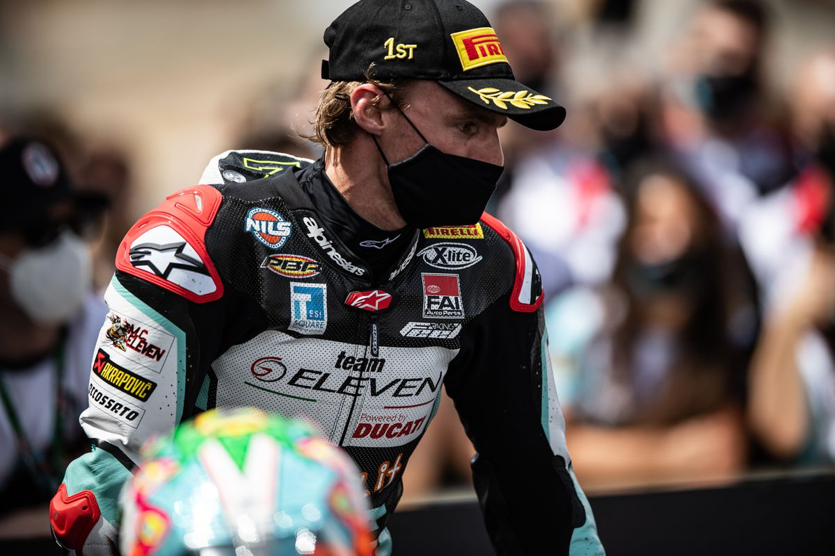 Davies is already looking ahead to round two of the WorldSBK championship. Picture: Gorini Luca