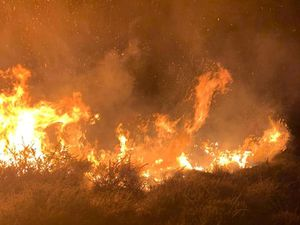 Fire at Catherton Common, Crumps Brook. Picture: Cleobury Mortimer Fire Station