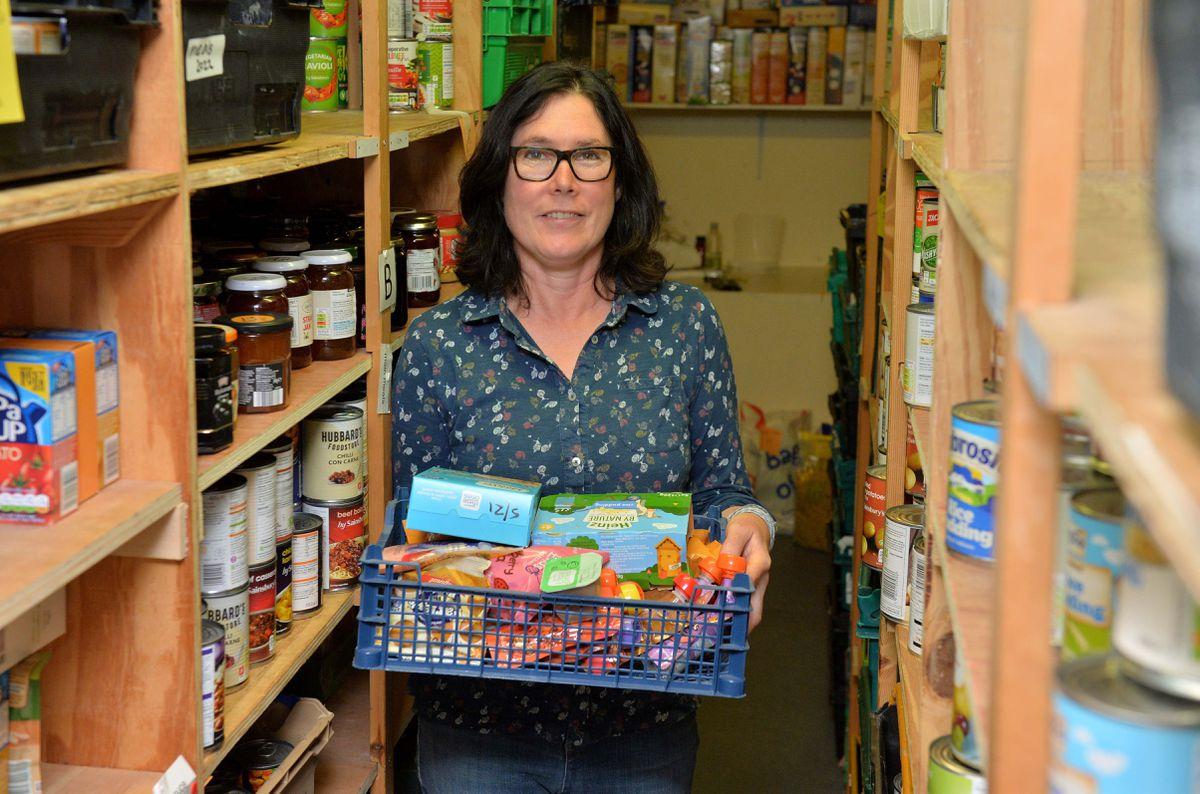 Karen Williams at the Project Food Bank Plus in Shrewsbury