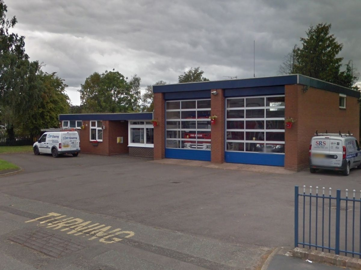 Market Drayton Fire Station on Maer Lane is very close to two petrol stations. Photo: Google