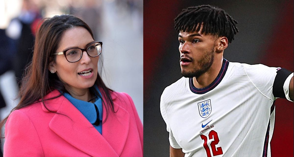 Tyrone Mings has hit out at Priti Patel
