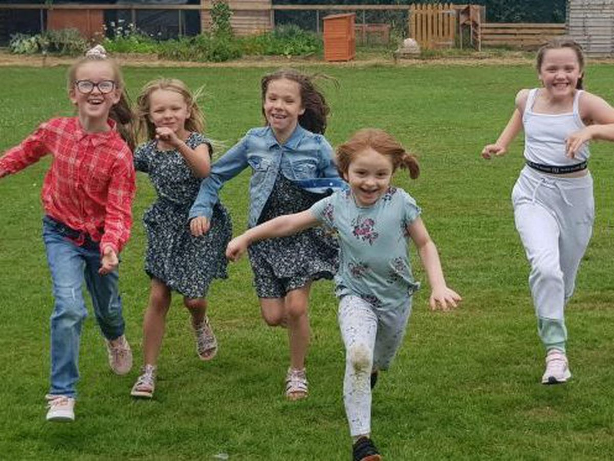 Children enjoying some fun at the Marches Academy trust