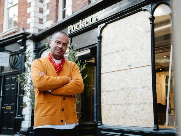 Pockets Menswear boss Paul Platt outside the shop after it was raided for the third time in six months
