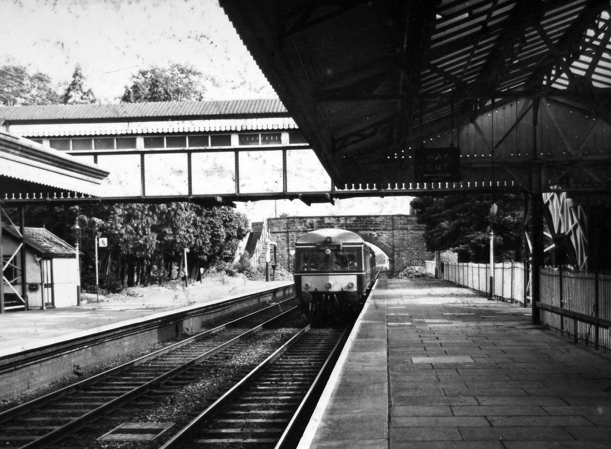 Haunt of a Royal train? Church Stretton railway station, pictured here in about 1969.