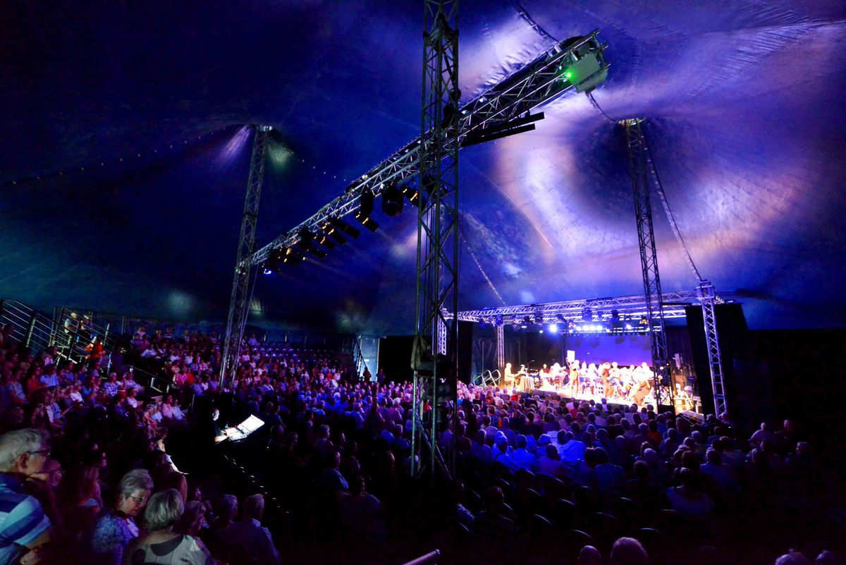 The audience inside the Big Top