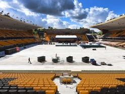 Stage set for Sir Rod Stewart's Molineux concert