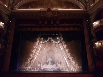 Art Noveau curtain to be used for La Traviata performance at Wolverhampton Grand Theatre