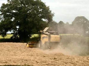 Harvest brings large agricultural vehicles onto the roads