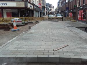 Part of the work in Shrewsbury town centre