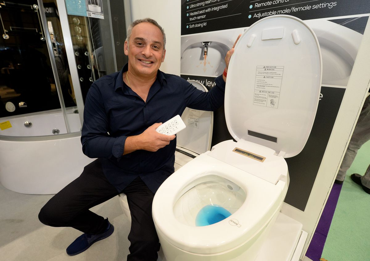 If you're feeling flush the £1,900 'smart toilet' could be right up your street