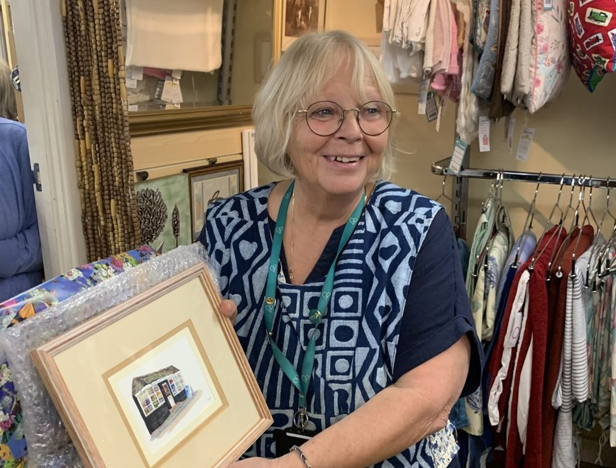 Gayna Woodland, manager of Severn Hospice's community shop in Cleobury Mortimer, is stepping down