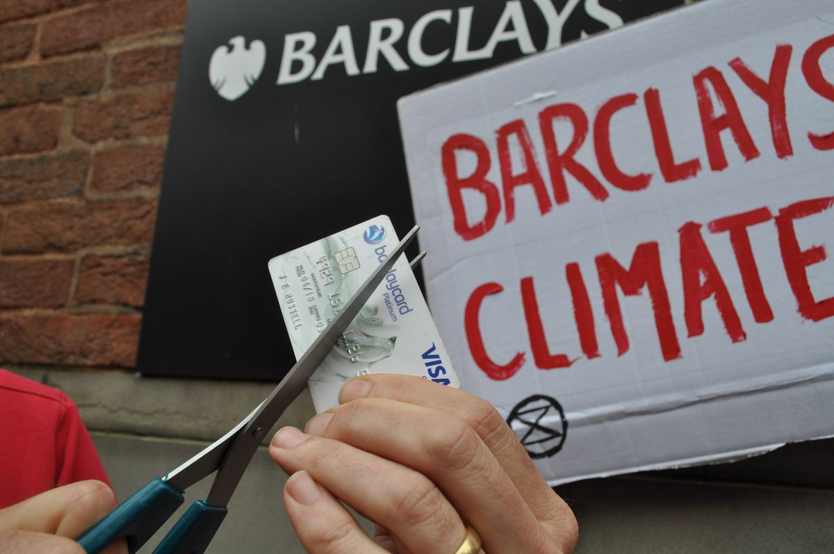 The group is asking people to use a more ethical bank