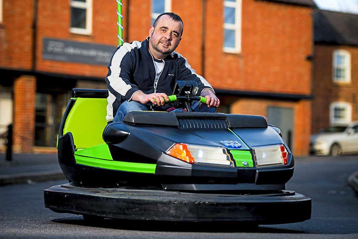 Shropshire man's souped-up dodgem cars make bumper impact on film crew