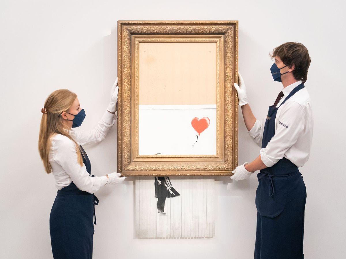 Banksy's Love Is In The Bin
