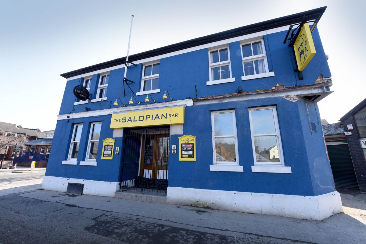 The Salopian, pictured before its latest paint job, is on Smithfield Road next to the river
