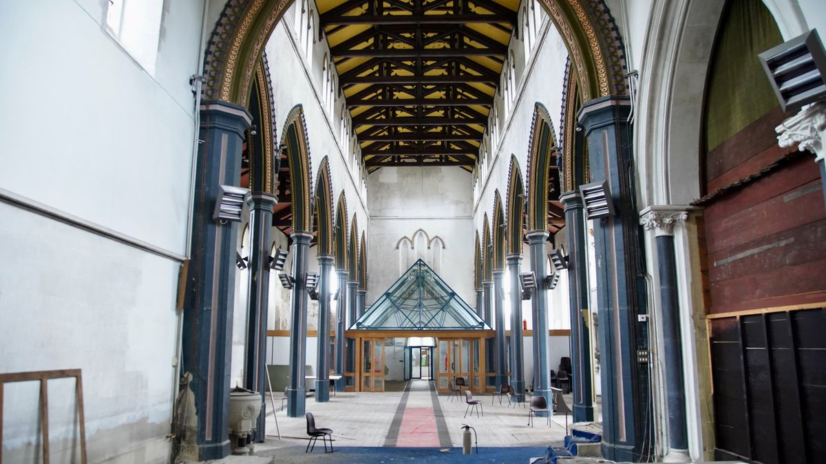 The interior of the historic church