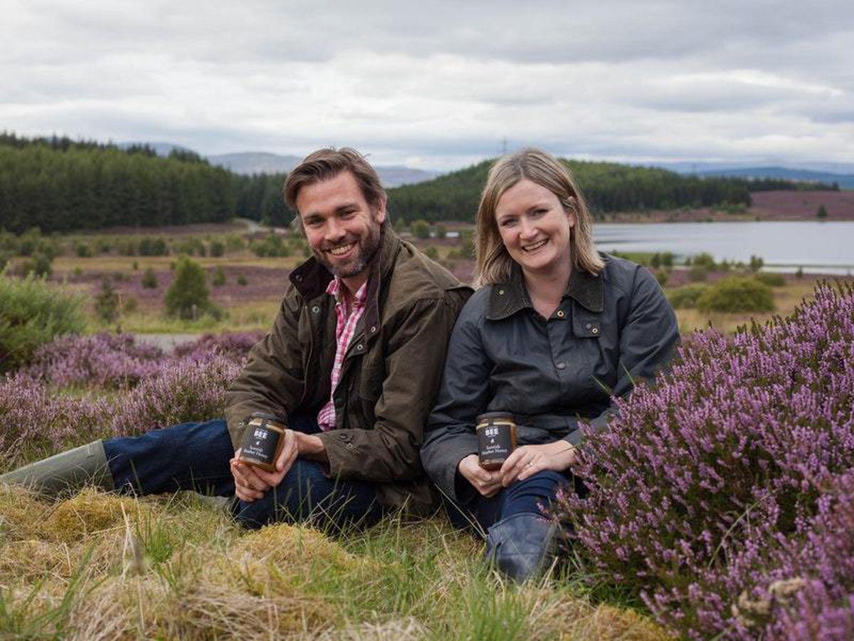 Scottish Bee Company founders Suzie and Iain Millar