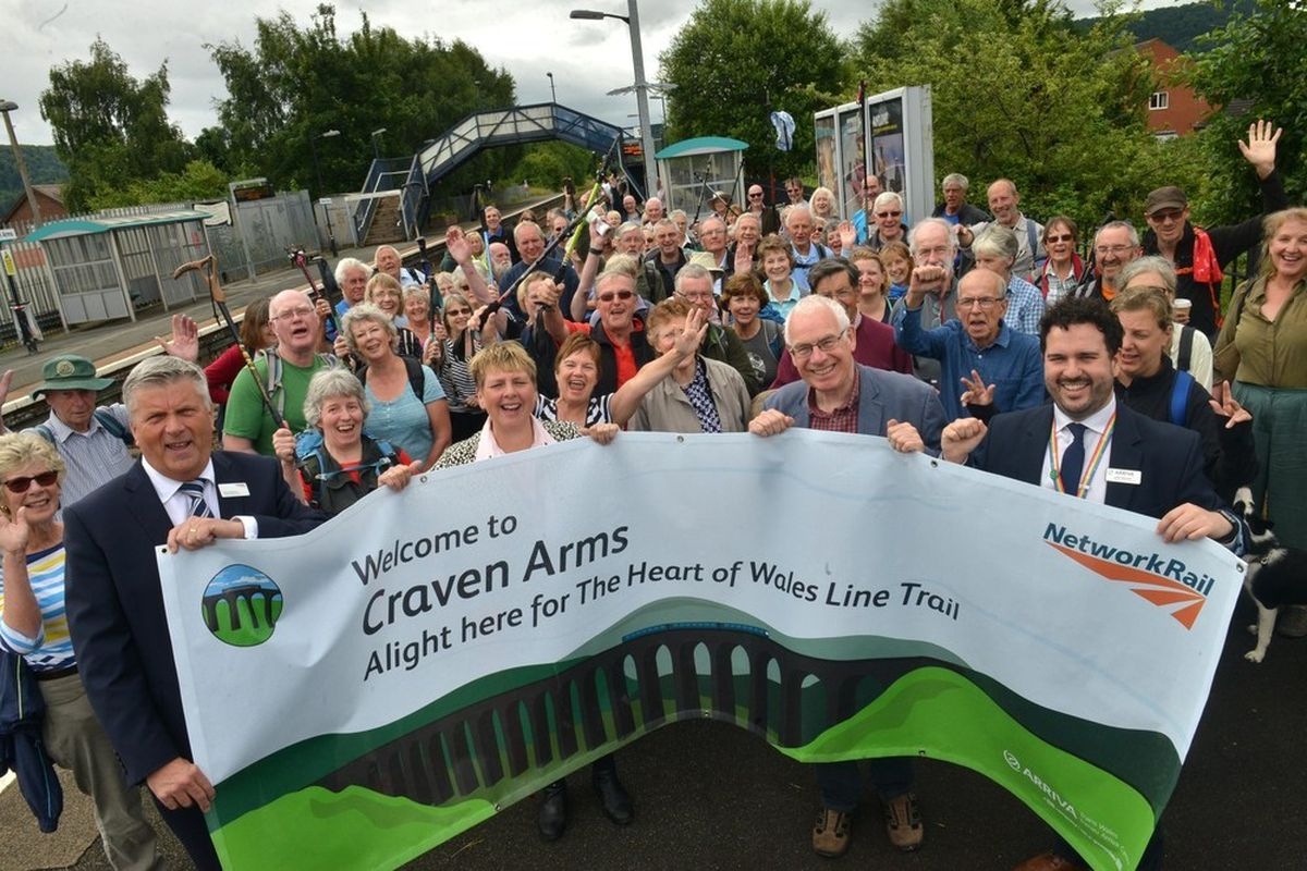 The Heart of Wales trail that opened in Craven Arms and runs to Carmarthenshire