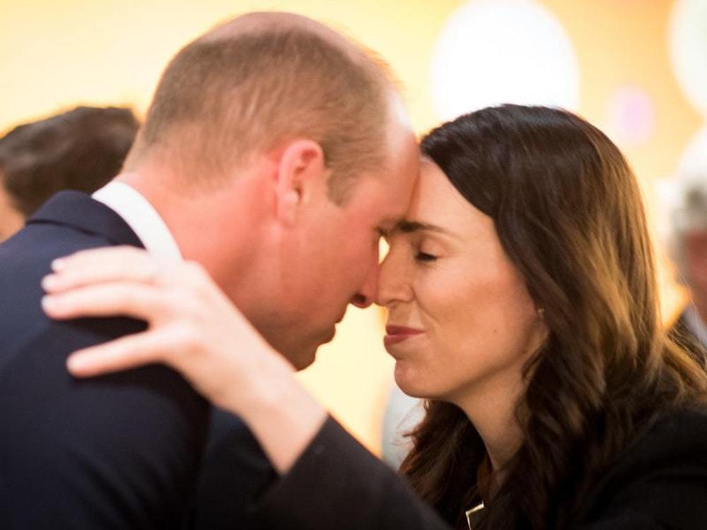 Maori Greeting Hongi: William Receives Traditional Maori Greeting From New