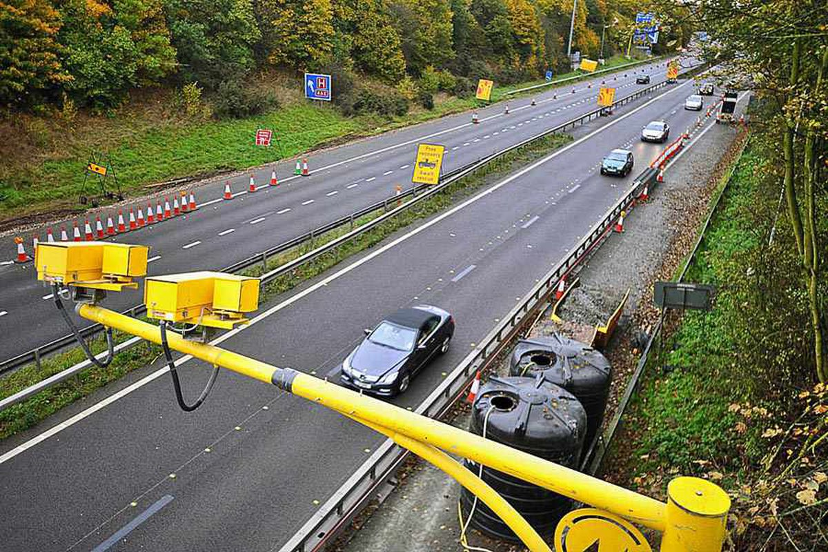Average speed cameras on the M54 in Shropshire