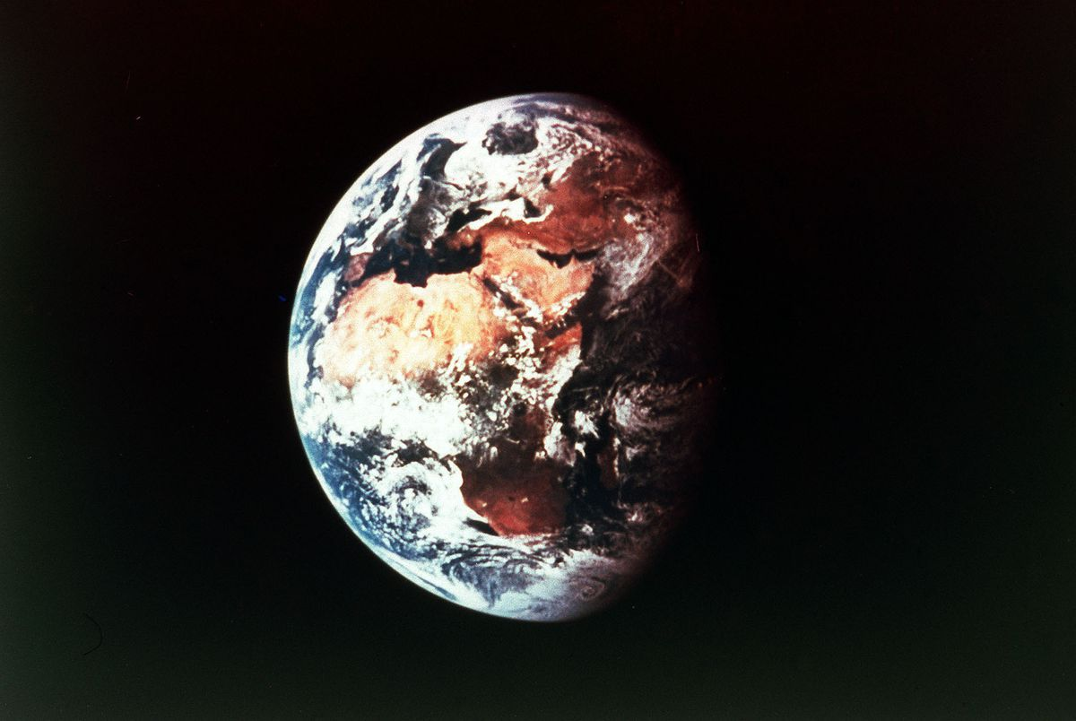Earth in orbit, viewed from Space.