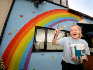 Alana Andrews has painted a huge rainbow on the side of her house along Shrewsbury Road, Craven Arms. It's in support of Pride month and as an ally to LGBTQ+ communities
