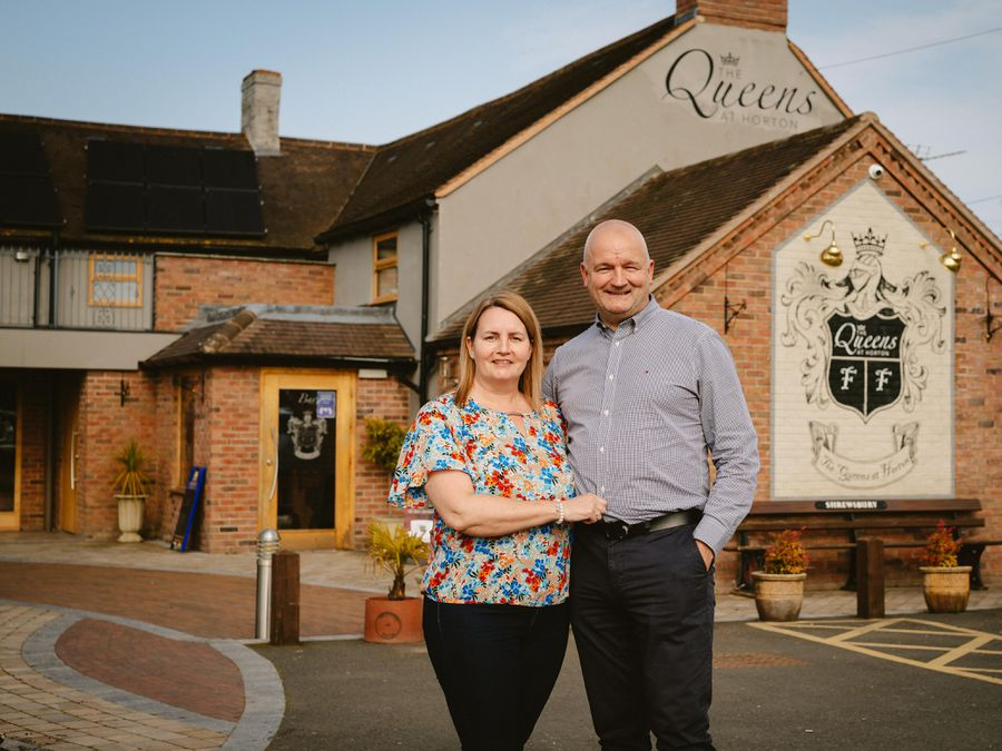 Tracy and Bill Scott, owners of The Queens, said they hoped editing of the filming was not too unkind to them