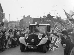 Gerry was 15 when he took this shot of the royal car in Wolverhampton in 1939, sparking a lifelong love of photography.