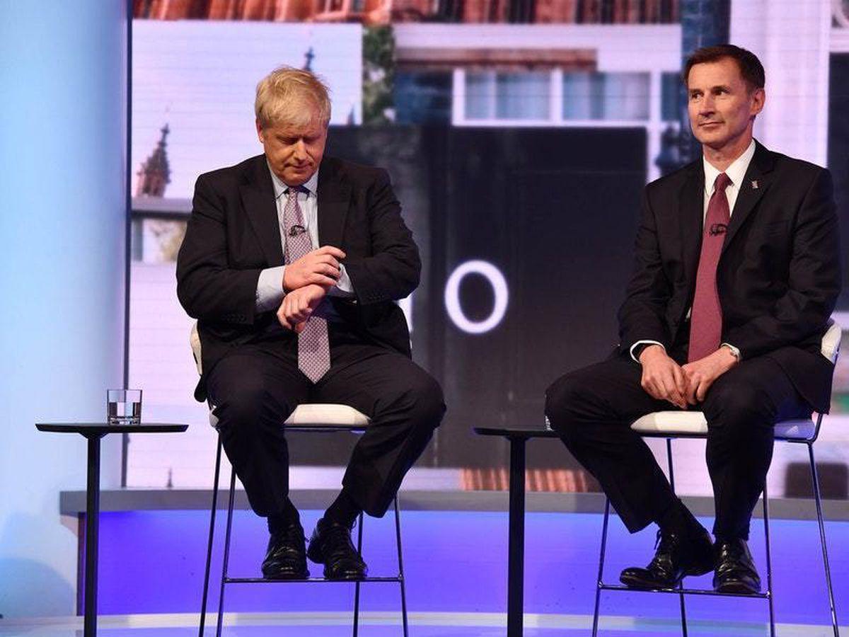 Boris Johnson and Jeremy Hunt on the BBC hustings programme