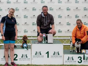 Lee Gibson, from Shrewsbury, who was a winner at the International Agility Festival with his two-year-old Miniature Pinscher, Chica. Picture: Yulia Titovets and The Kennel Club