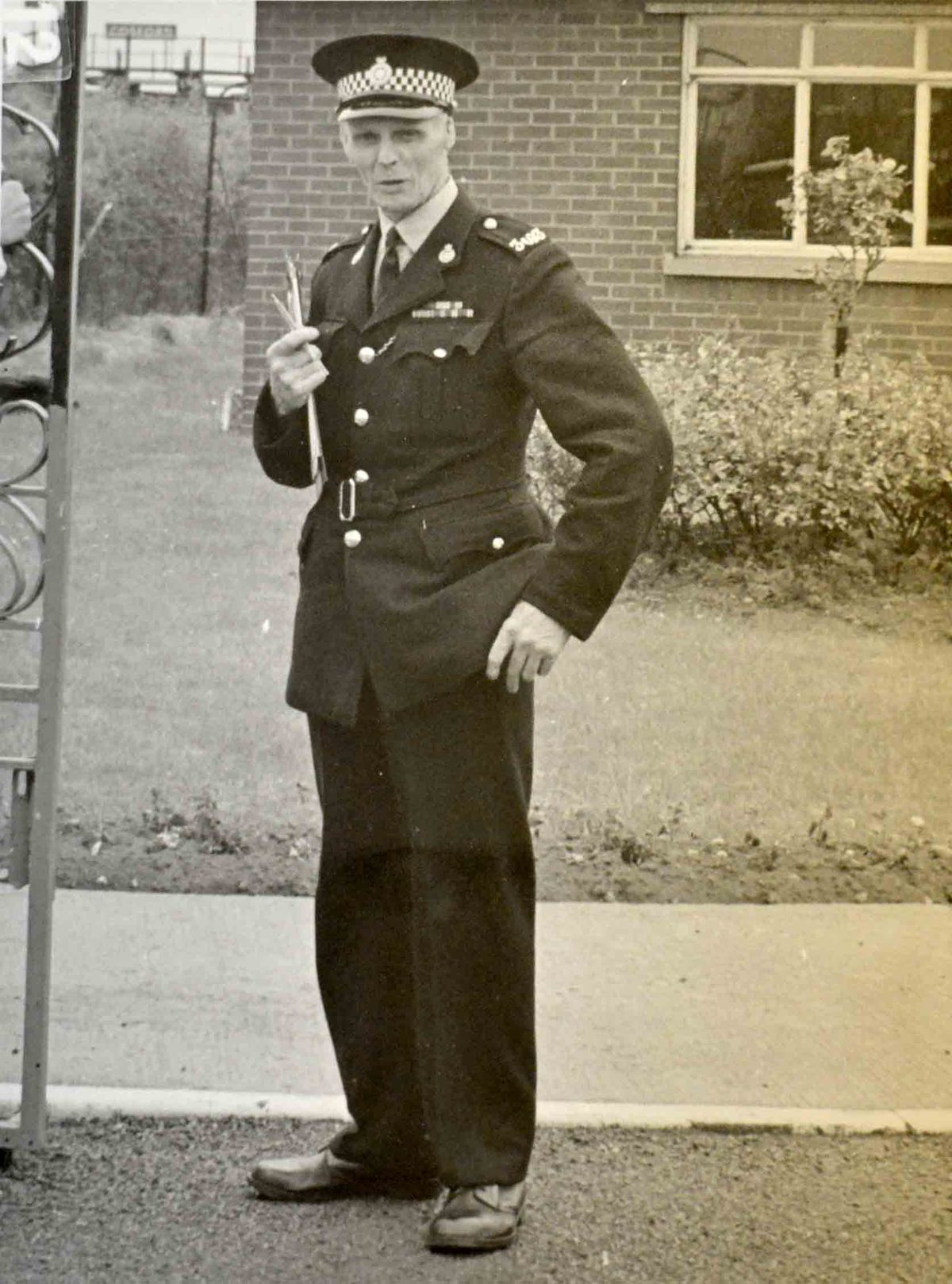 Les Cherrington in his RAF Police days at Cosford
