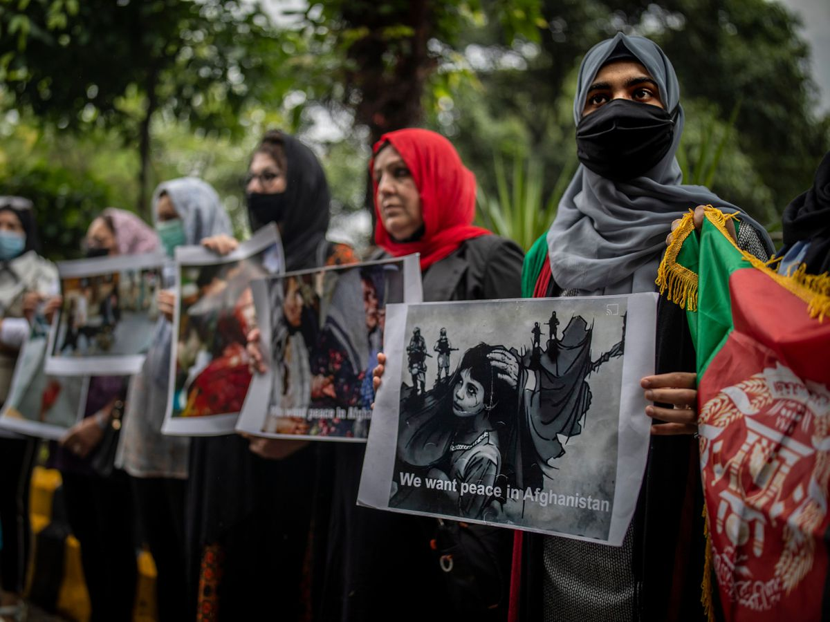 India Afghanistan Protest