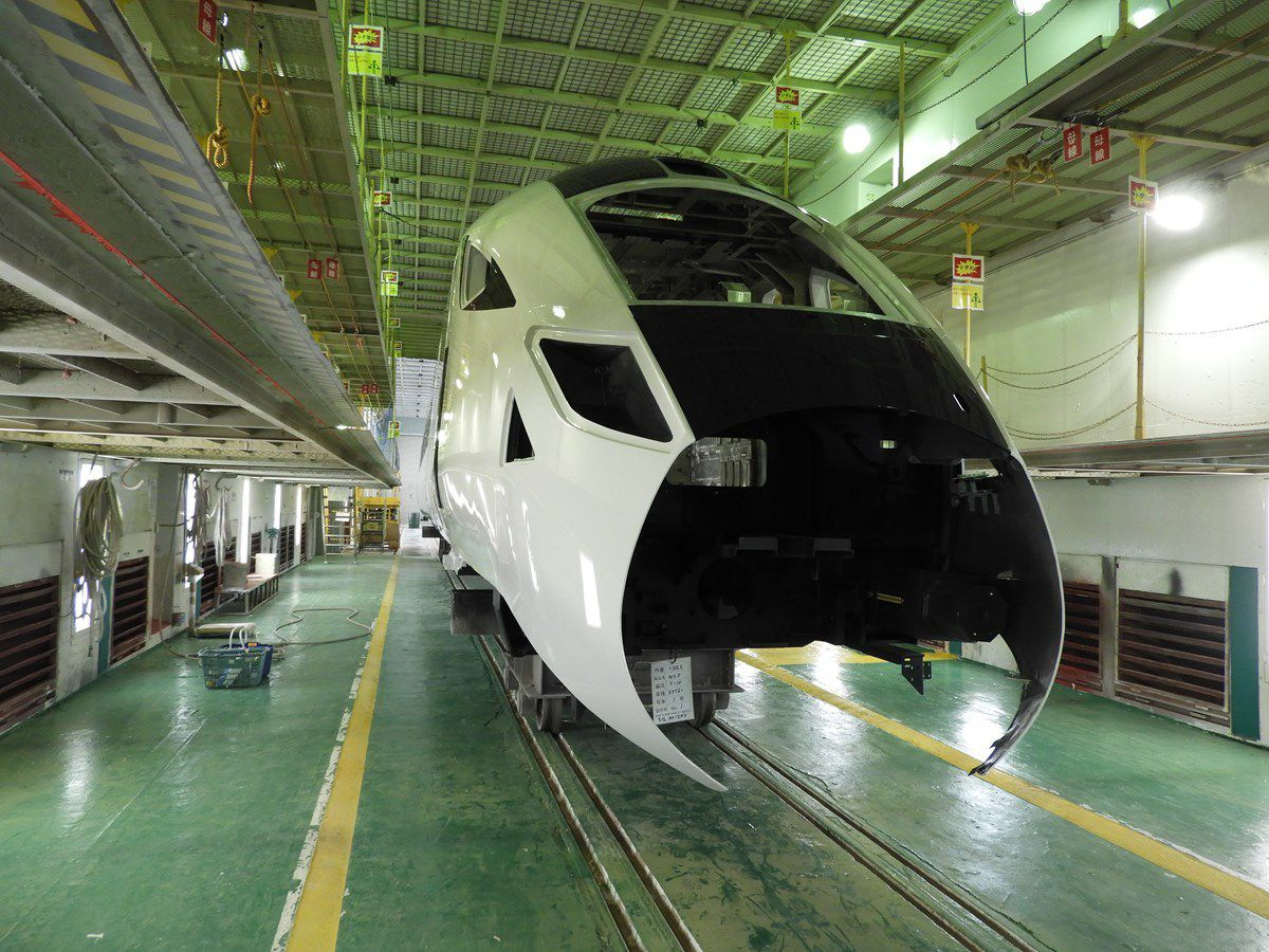 The bodyshell of the new Class 805 locomotives