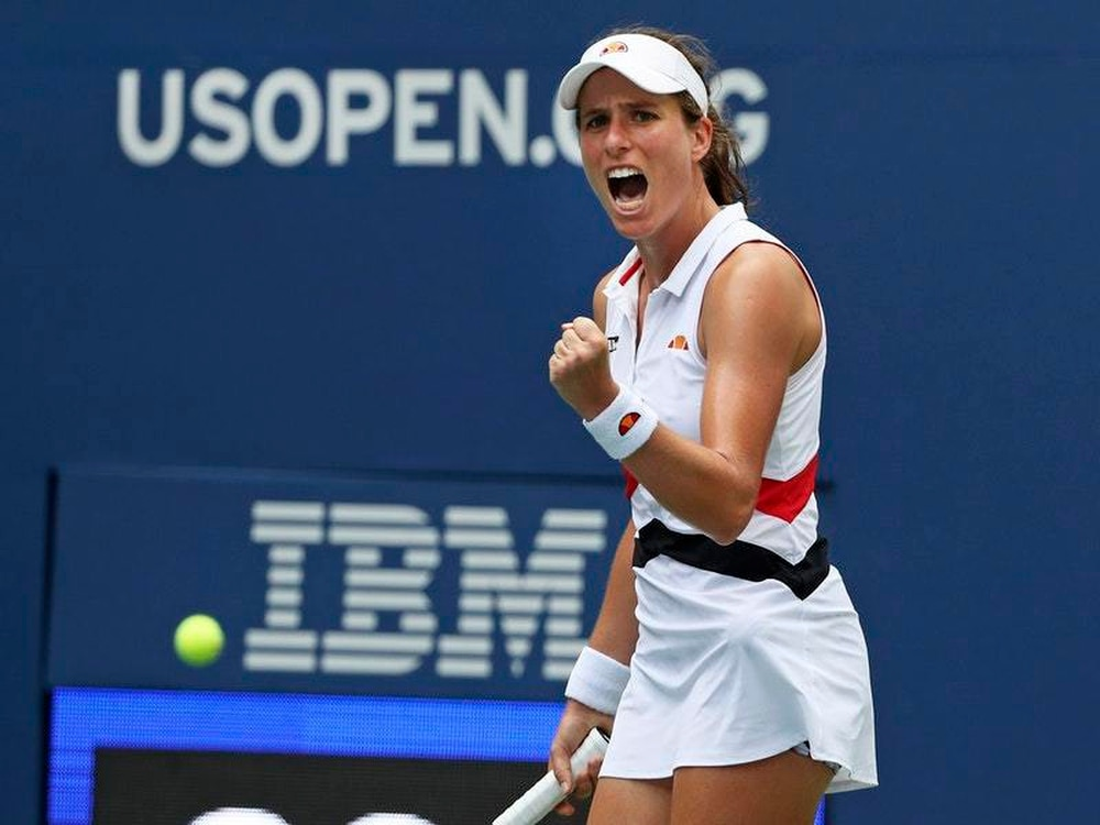 Johanna Konta reaches US Open quarter-finals for the first time ever