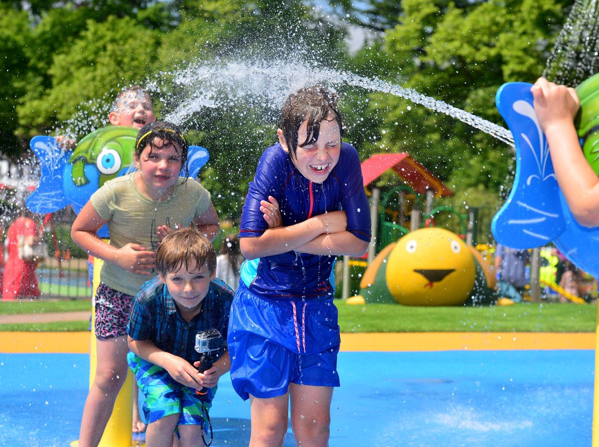 Shrewsbury Splash Park is only open in the spring and summer