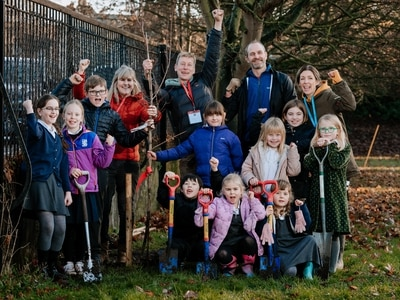 Pupils plant new trees as part of campaign at Shrewsbury school