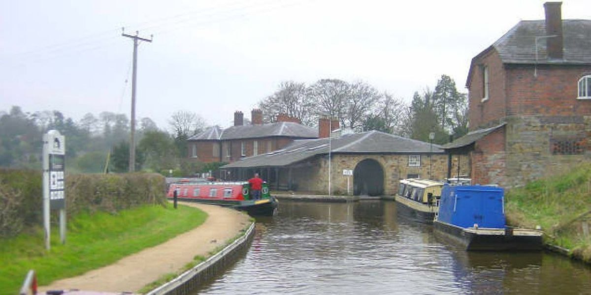 The Canal buildings and yard in Ellesmere