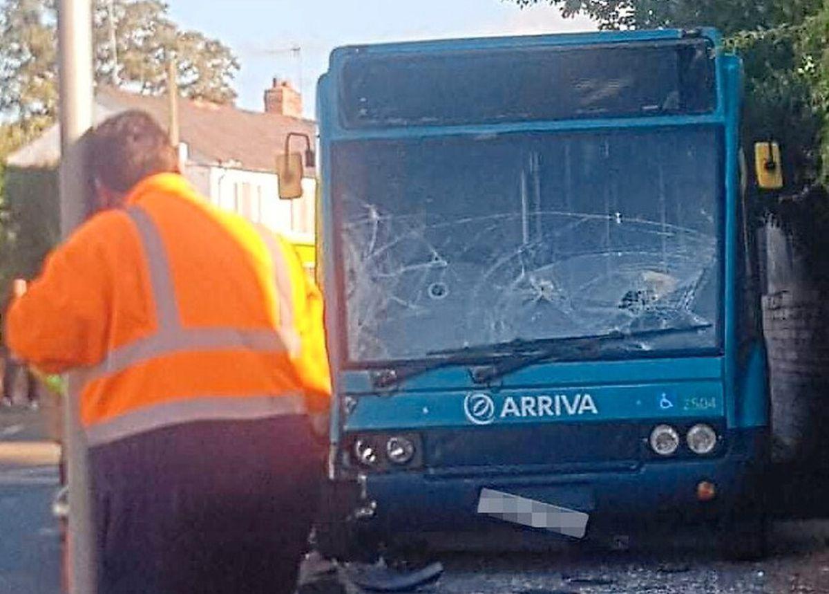 Scene of the accident in Dorrington Pic: Olivia Kerswell