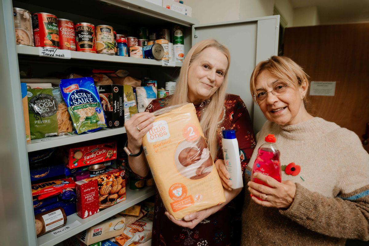 Debbie Brown and Angela Flowers helped found Cleobury Mortimer food bank last year