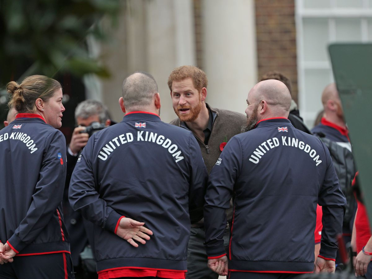 The Duke of Sussex meeting members of Team UK ahead of the abandoned 2020 Invictus Games
