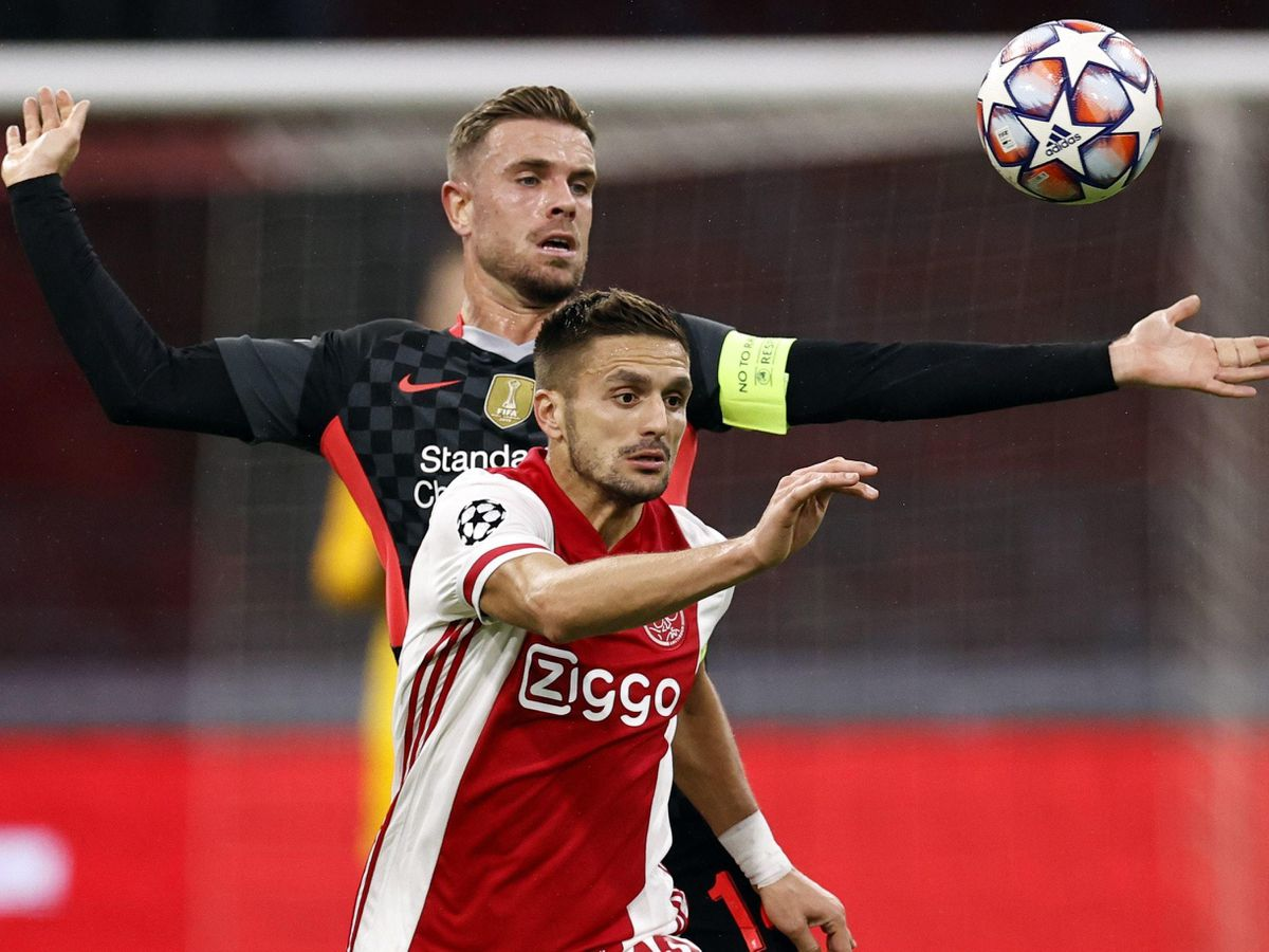 Dusan Tadic (front) was on target as Ajax chalked up a record-breaking victory