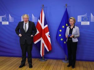 Prime Minister Boris Johnson with European Commission president Ursula von der Leyen