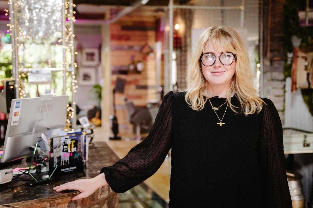 Brooke Evans runs a hair salon in Ironbridge